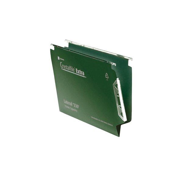 Suspension File Rexel Suspension Crystalfile Lateral 330 Green PK25