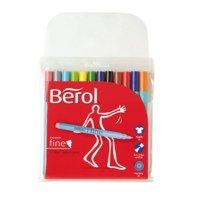 Colouring Pens Berol Color Fine Fibre Tip Pen Assorted PK12