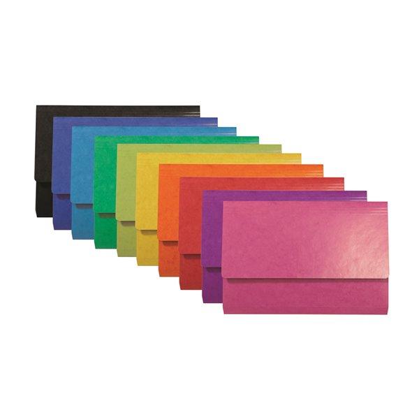Iderama Pocket Wallet Foolscap Assorted PK25