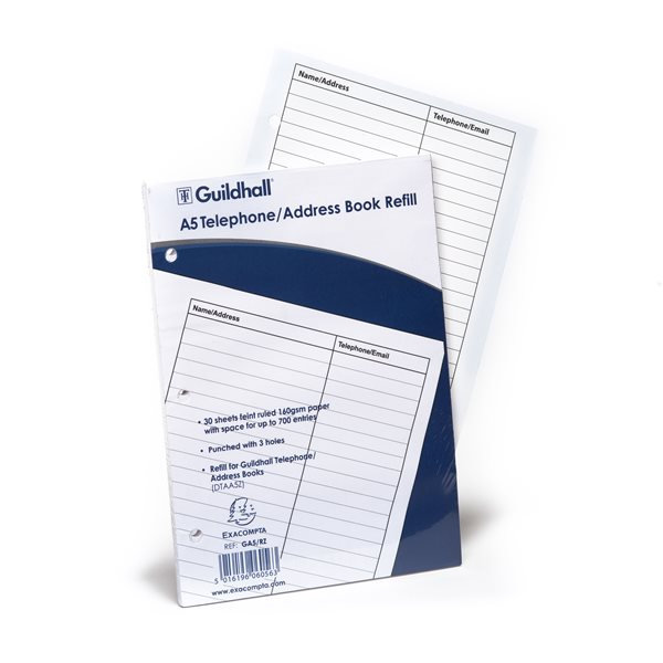 Address Books Goldine Address Book Refill A5