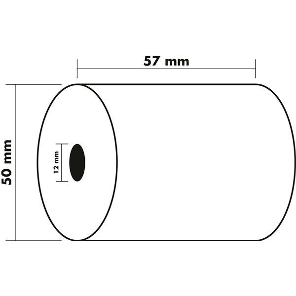 Tally Rolls Thermal Rolls BPA Free 1ply 55g 57x50x12mm 28m PK10