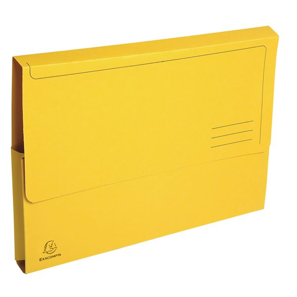 Forever Document Wallet A4 290gsm Yellow PK50