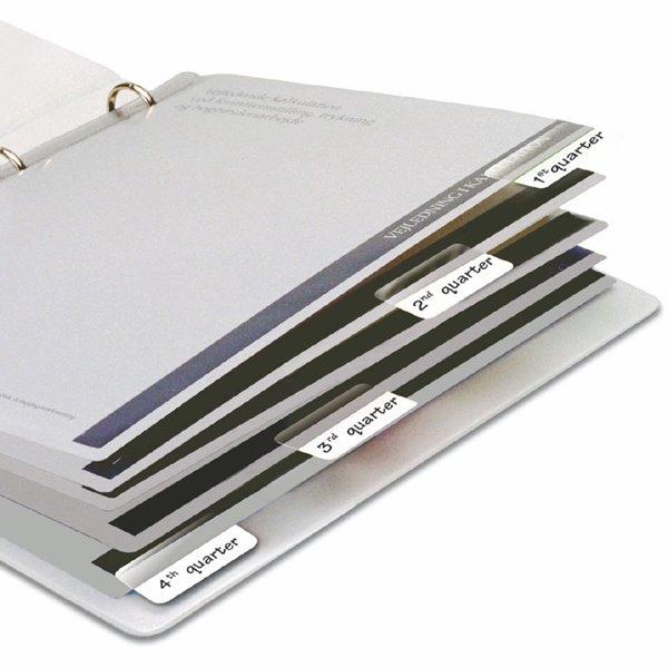 Tabs 3L Index Tabs Self Adhesive 25mm White 10511 (PK72)