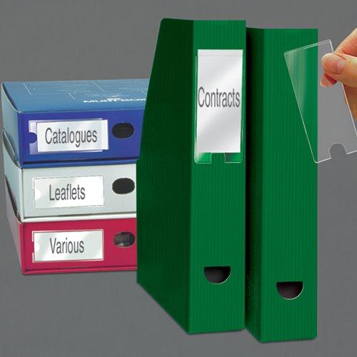 Self Adhesive Pockets Value 3L Self Adhesive Label Holders 25x75mm 10310 (PK12)