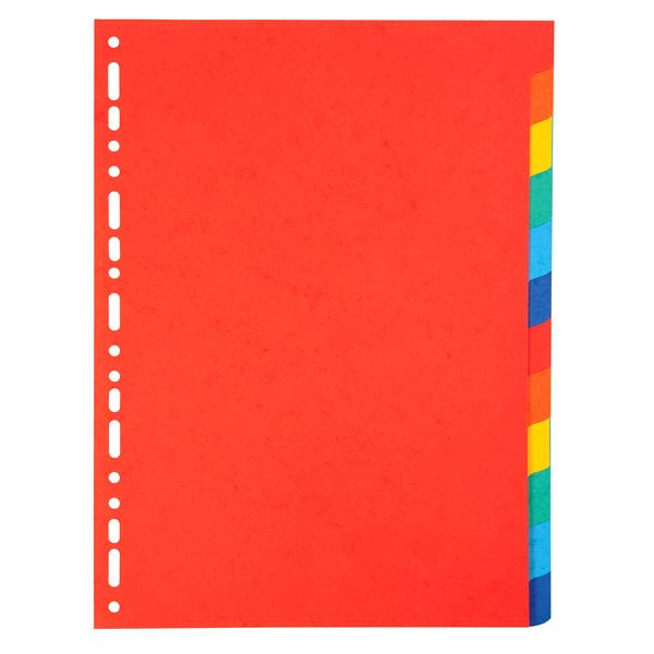 Dividers Forever Bright A4 Dividers 220gsm 12 Part