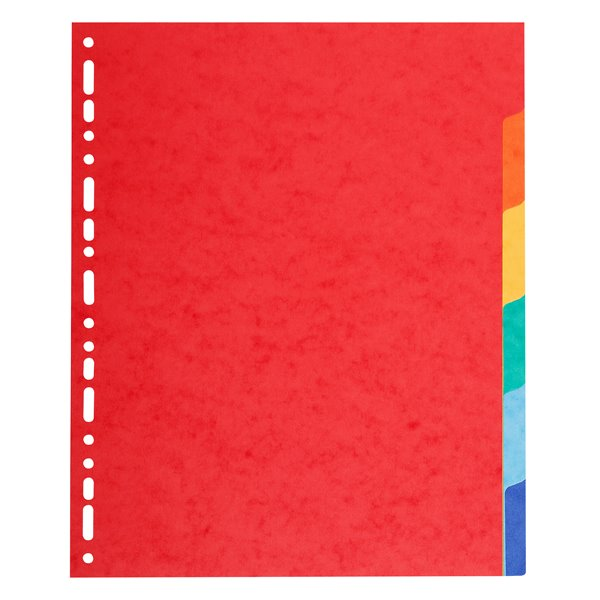 Dividers Forever Vivid A4 Dividers 220gsm 6 Part