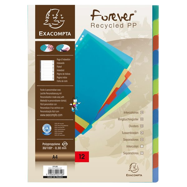 Dividers Forever PP A4 Dividers 12 Part