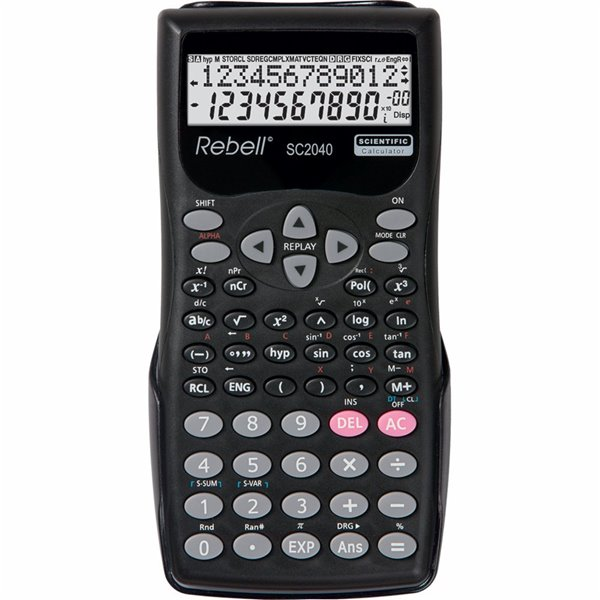 Rebell RE-SC2040 BX Scientific Calculator 10+2 Digit 2 Line