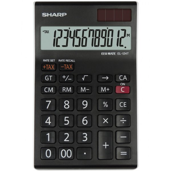 Sharp EL124TWH Desktop Calculator 12 Digit