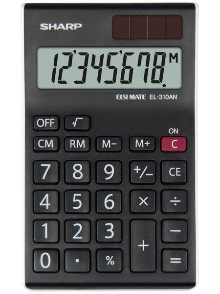 Sharp EL310ANWH Desktop Calculator 8 Digit Angled Display