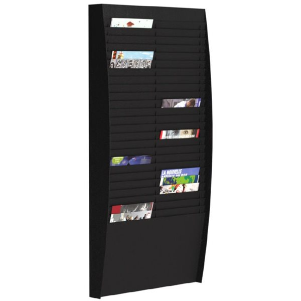 Literature Holders Fast Paper Document Panel 2x25 Comp A4 Black