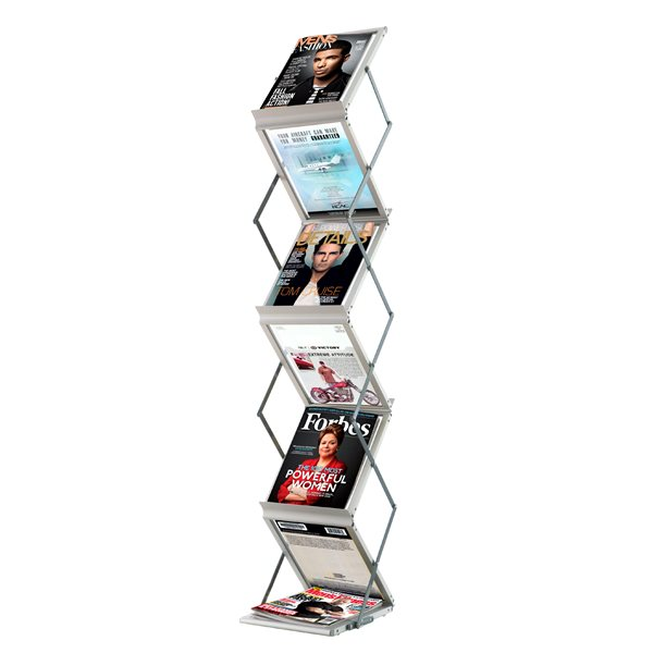 Literature Holders Fast Paper Foldable Display System 6 Comp
