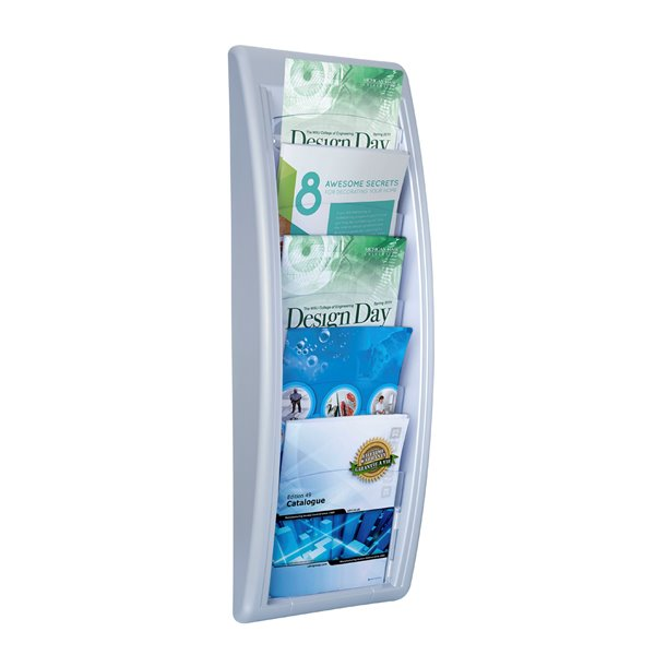 Literature Holders Fast Paper A5 Quick Fit Wall Display Silver