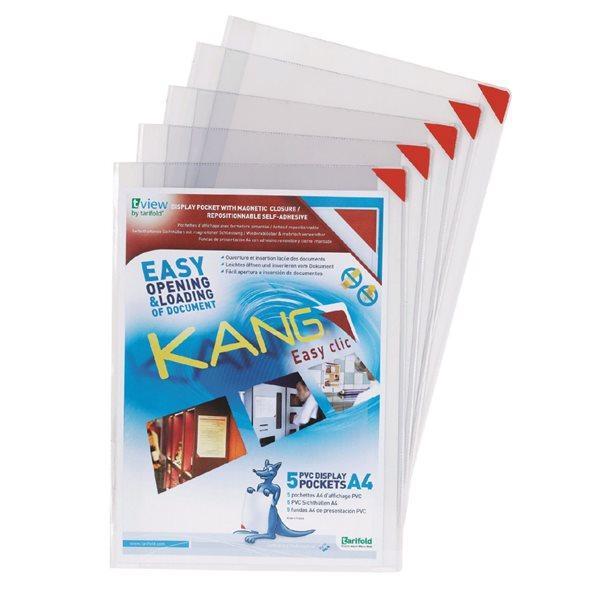 Part Files Tarifold A4 Self Adhesive Magnetic Closure Pockets PK5
