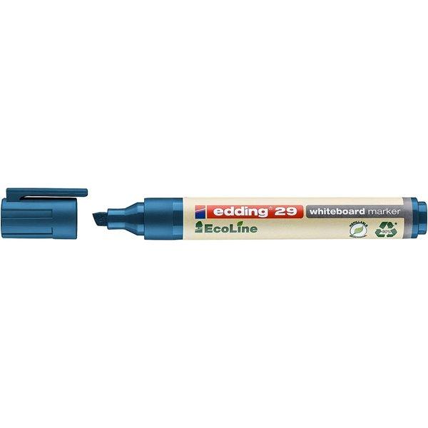 Drywipe Markers edding 29 EcoLine Whiteboard Chisel Tip Marker Blue PK10