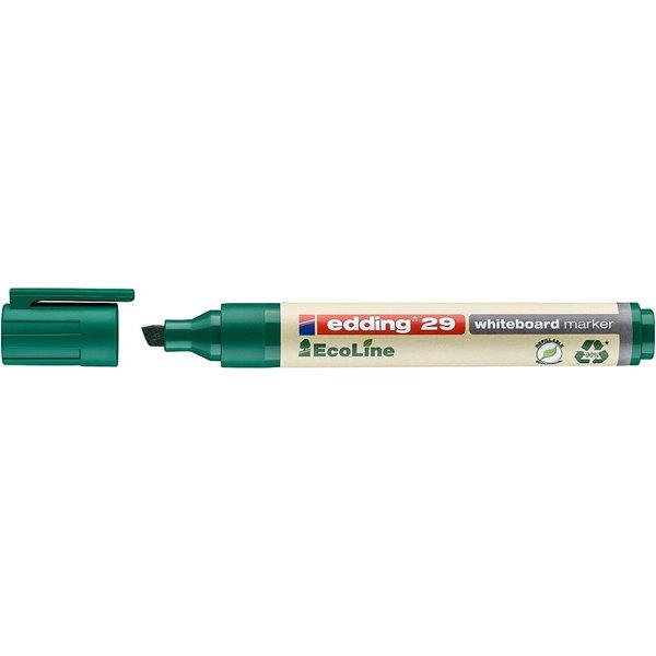Drywipe Markers edding 29 EcoLine Whiteboard Chisel Tip Marker Green PK10