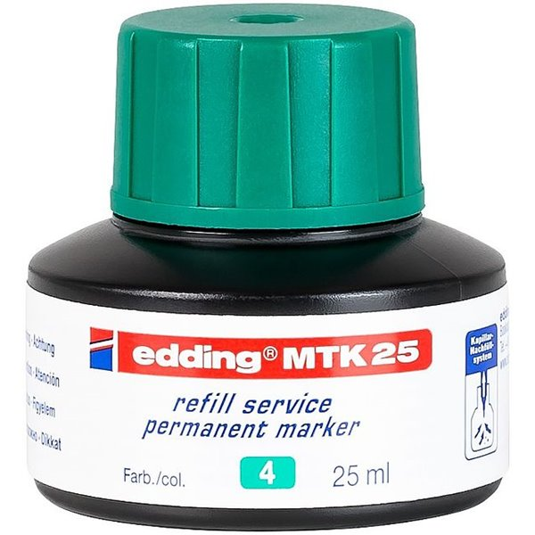 Permanent Markers edding MTK 25 Refill Ink For Permanent Marker Green