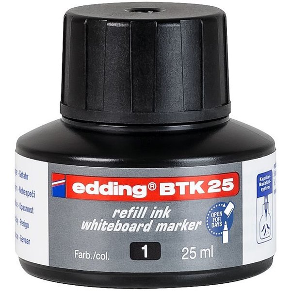 edding BTK 25 Refill Ink For Whiteboard Marker Black