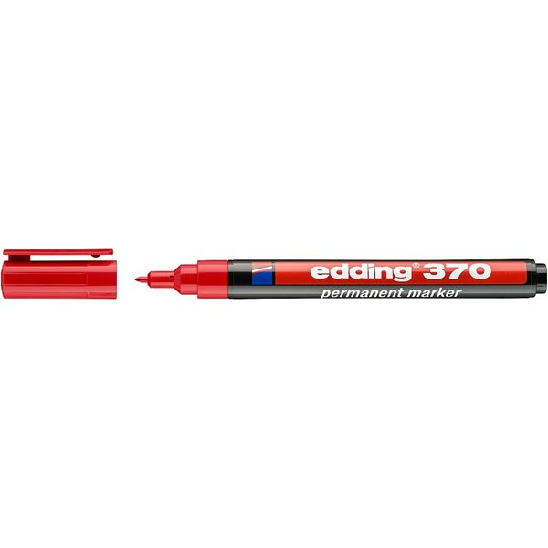 Permanent Markers Edding 370 Permanent Marker Bullet 1.0mm Line Red PK10