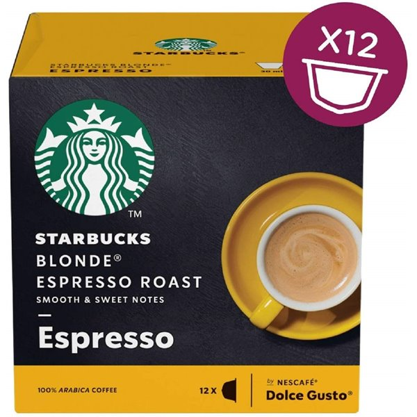 Coffee STARBUCKS for Dolce Gusto Machines Espresso Blonde PK3