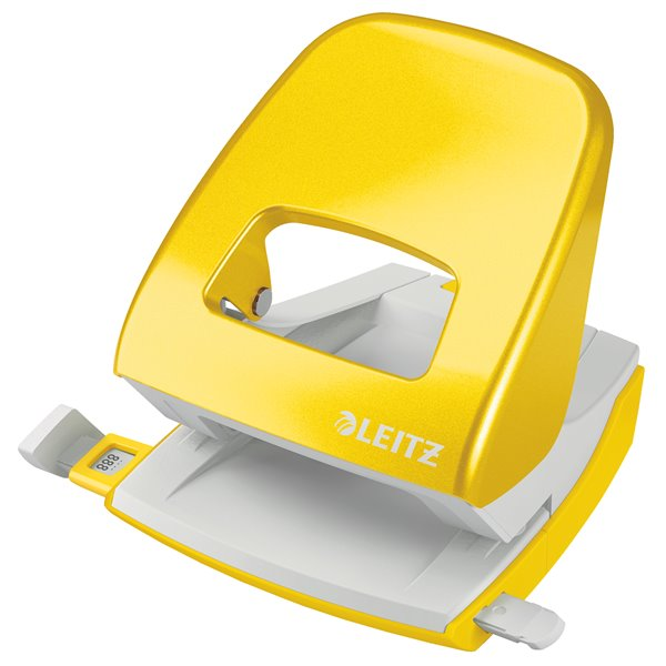 Hole Punches Leitz New NeXXt WOW Metal Office Hole Punch 30sh Yellow