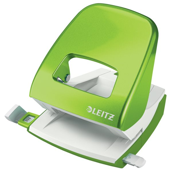 Hole Punches Leitz New NeXXt WOW Metal Office Hole Punch 30sh Green