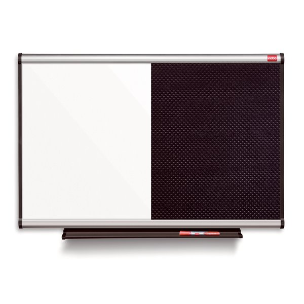 Magnetic / Felt Nobo Prestige Combi Foam/Steel Noticeboard 1200x900mm