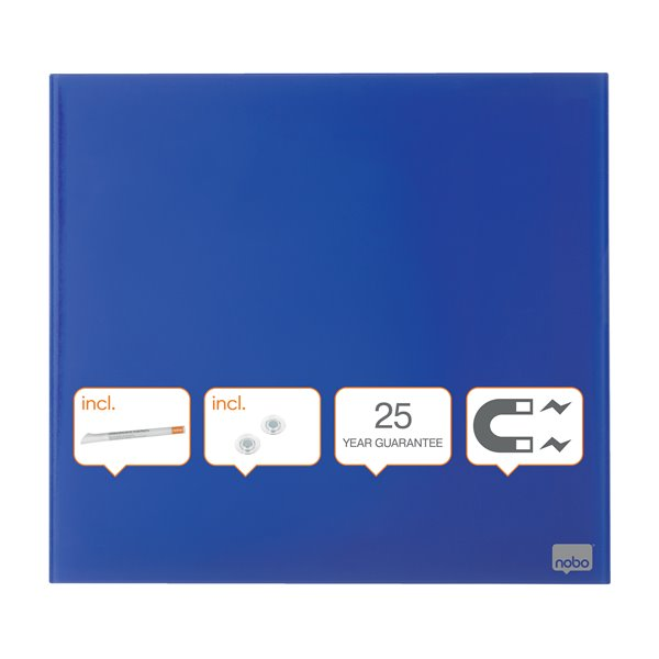 Magnetic Nobo Diamond Drywipe Board Magnetic 450x450mm Blue