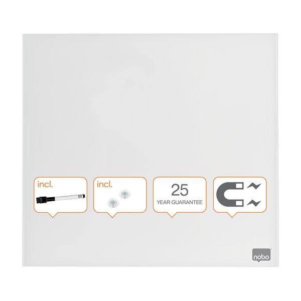 Magnetic Nobo Diamond Drywipe Board Magnetic 300x300mm White