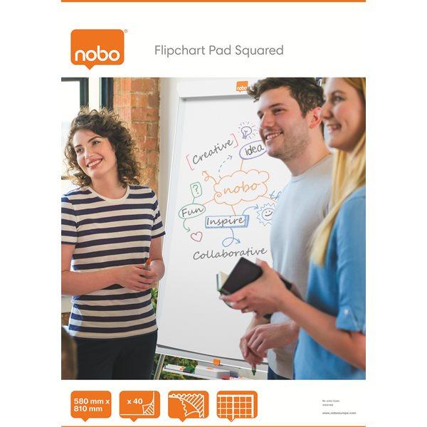 Nobo A1 40 Sheet Squared Flipchart Pad PK5
