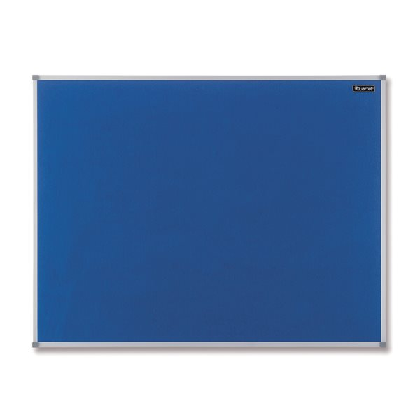Felt Nobo Felt Notice Board Aluminium Trim 1200x900mm Blue