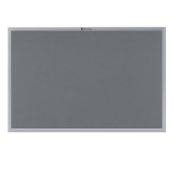 Felt Nobo Gemini Aluminium Frame Noticeboard 1500x1000mm Grey