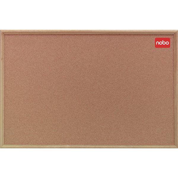 Cork Nobo Cork Noticeboard Oak Framed 600x450mm
