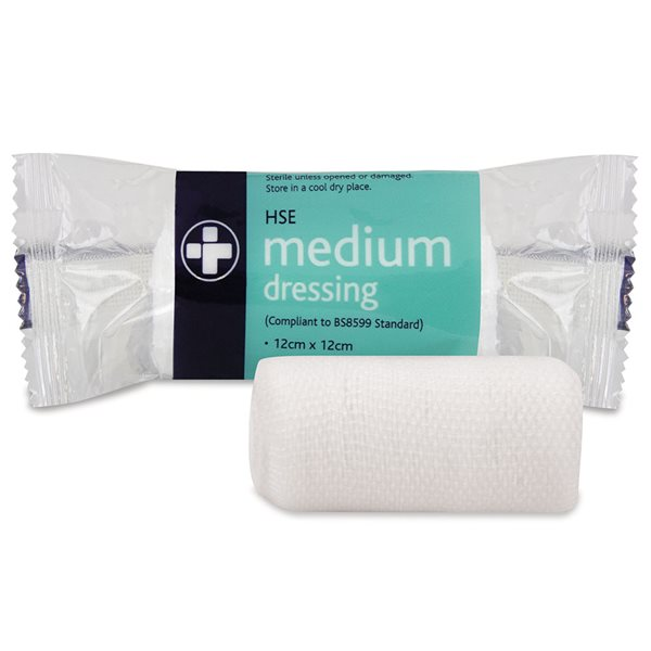 Reliance Medical HSE Medium Dressing 12cm x 12cm PK10