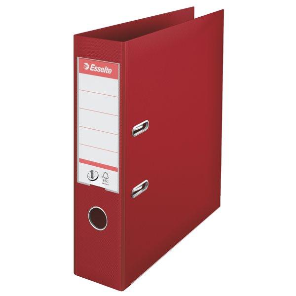 Lever Arch Files Esselte Lever Arch File PVC A4 70mm Burgundy PK10