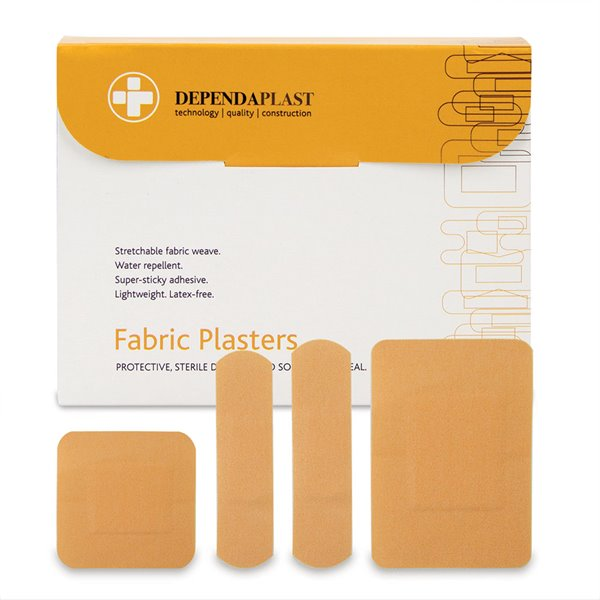 Equipment Reliance Dependaplast Fabric Plasters Assorted Sizes PK100