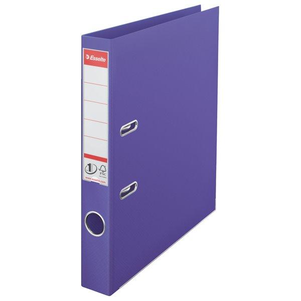 Lever Arch Files Esselte No.1 Power Lever Arch File A4 PP 50mm Violet  PK10