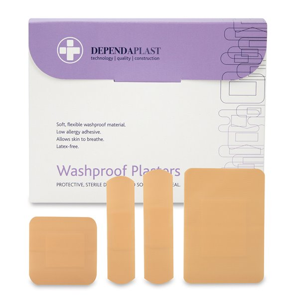 Equipment Reliance Dependaplast Washproof Plasters Assorted Size PK100