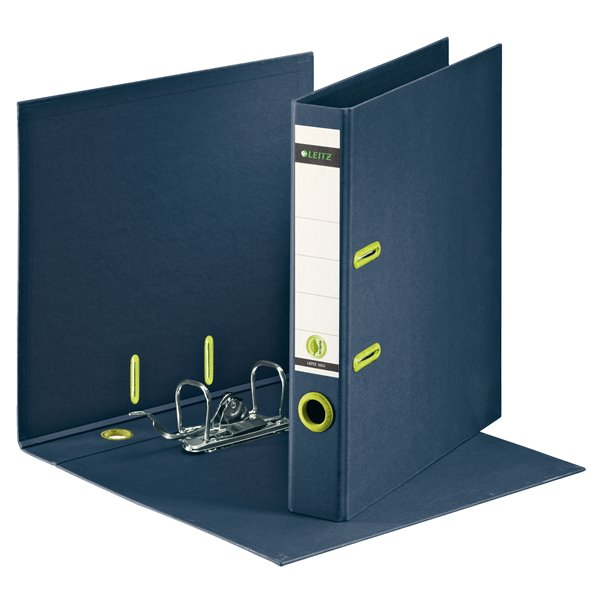 Lever Arch Files Leitz 180 Recycled Lever Arch File A4 50mm Dark Blue PK10