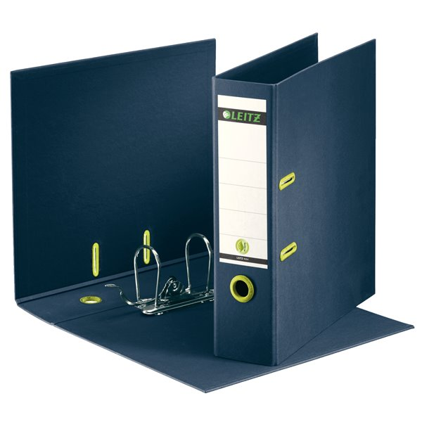 Lever Arch Files Leitz 180 Recycled Lever Arch File A4 85mm Dark Blue PK10