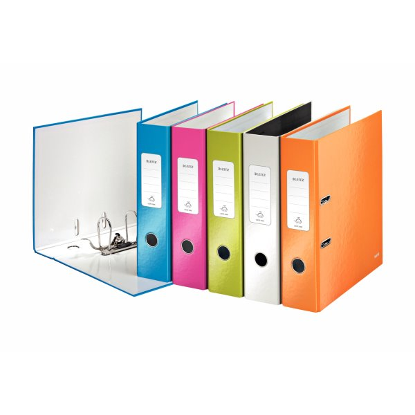 Lever Arch Files Leitz 180 WOW Lever Arch File A4 80mm Assorted PK10
