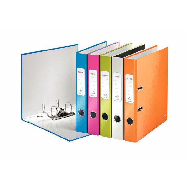 Lever Arch Files Leitz 180 WOW Lever Arch File A4 50mm Assorted PK10