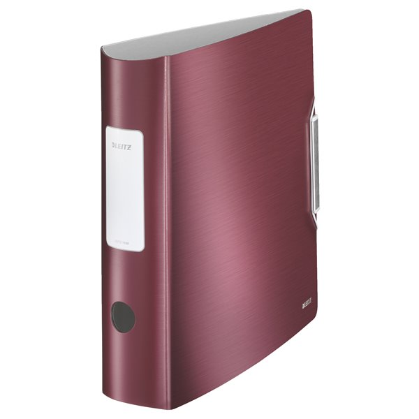 Lever Arch Files Leitz 180 Active Style LAF A4 PP 80mm Garnet Red PK5