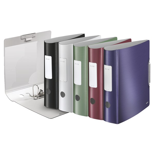 Lever Arch Files Leitz 180 Active Style LAF A4 PP 80mm Assorted PK5