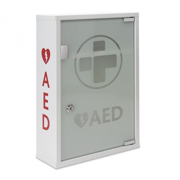 AED Metal Wall Cabinet (UNALARMED) Glass Door  Lockable
