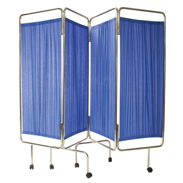 Equipment Reliance Relequip Medical Screen 4 Way Flding inc Curtain