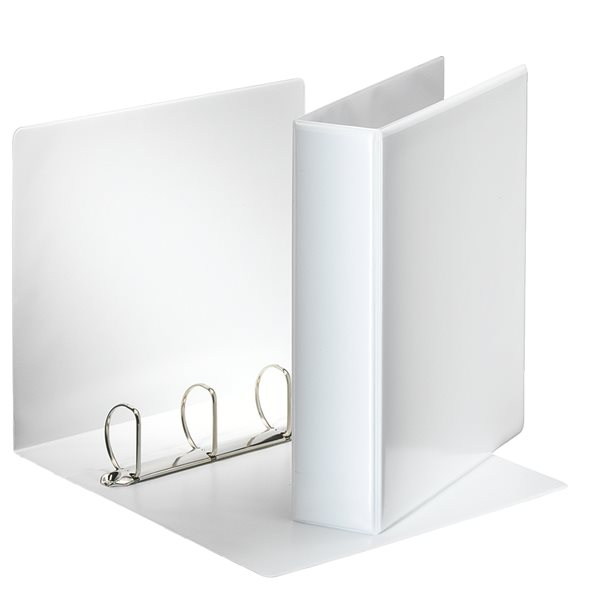 Ring Binders Esselte Essentials Pres Binder A4 50mm 4 D-Ring WH PK10