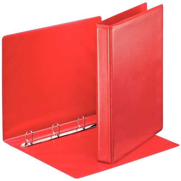 Esselte Essentials Pres Binder A4 25mm 4 O-Ring Red PK10