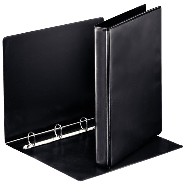 Esselte Essentials Pres Binder A4 25mm 4 D-Ring BK PK10