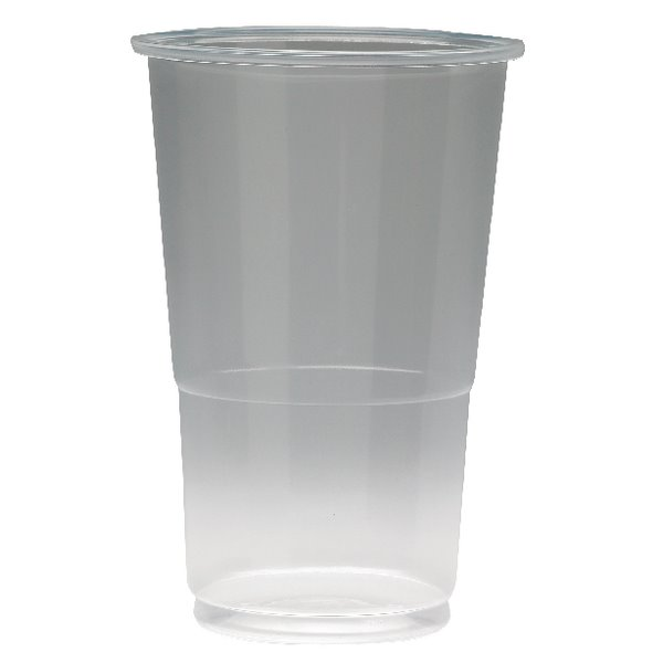 Disposable Cups & Accessories Value Flexiglass 1/2 Pint Clear Plastic Glass (Pack 50)